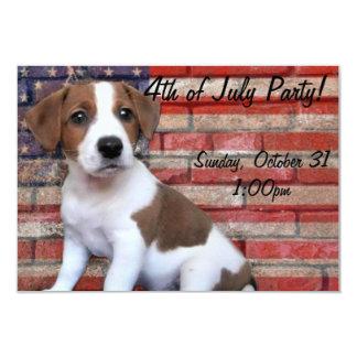 4to de la invitación del fiesta del perro de julio