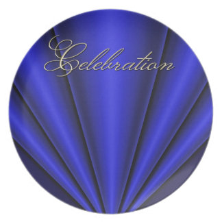 4to de la placa azul de la celebración del plisado platos de comidas