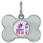 4to de la placa de identificación de julio placa mascota