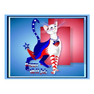 4to De la postal americana del gatito de julio