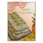 4to de la tarjeta de julio con la torta y el recep