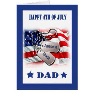 4to de la tarjeta de julio para el papá militar