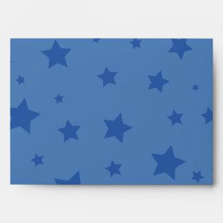 4to de las estrellas azul marino y del rojo del sobres