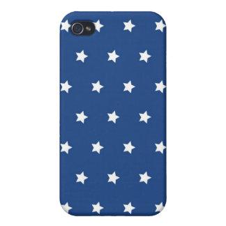 4to De las estrellas blancas de julio en modelo de iPhone 4 Carcasas