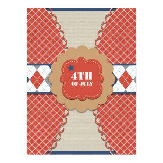 4to de las invitaciones de julio invitación 16,5 x 22,2 cm