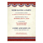 4to de las invitaciones del fiesta del Día de la I Anuncios