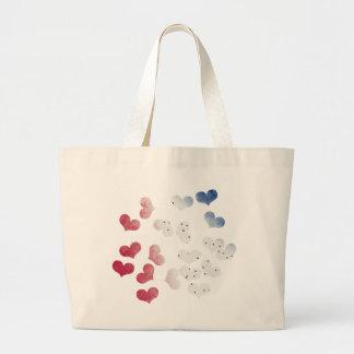 4to de los corazones de julio bolsa de tela grande