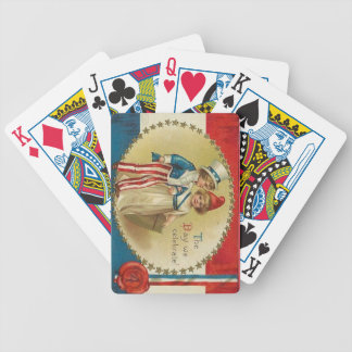 4to de los naipes de la impresión del vintage del  cartas de juego