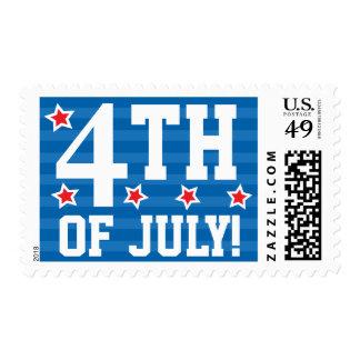 4to de los sellos azules del Día de la