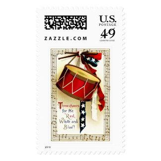 4to de los sellos del diseño del vintage de julio