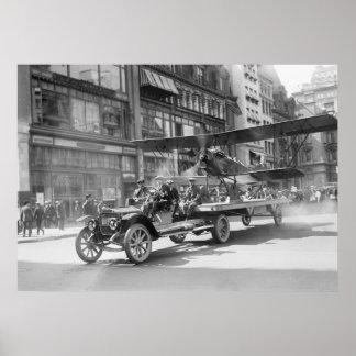 4to del biplano de julio, 1900s tempranos póster