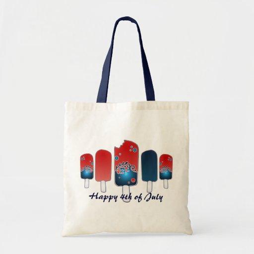 4to del bolso del Popsicle de julio Bolsa Tela Barata