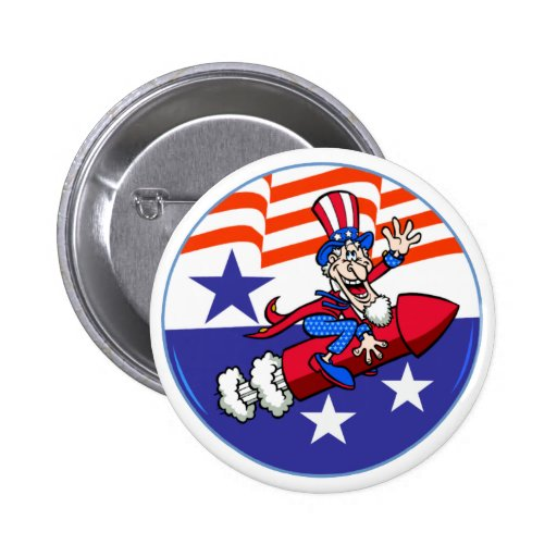 4to Del botón del tío Sam de julio Pins
