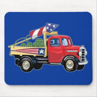 4to del camión del vintage de julio tapete de raton