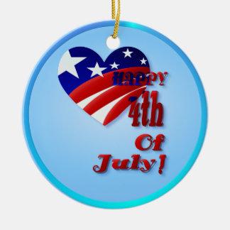 4to Del corazón de julio los E E U U Ornamentos De Reyes Magos