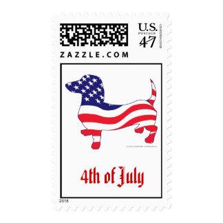 4to del Dachshund de julio Timbre Postal