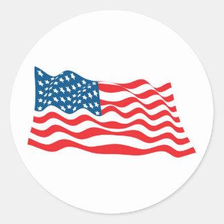 4to del Día de la Independencia de julio Etiquetas Redondas