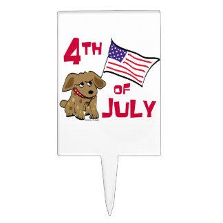 4to del diseño del perro de julio figura de tarta