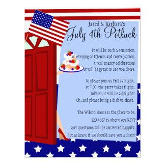 4to del fiesta de julio Potluck Anuncio
