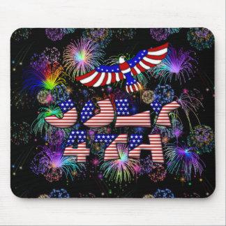 4to del fiesta de julio alfombrillas de ratón