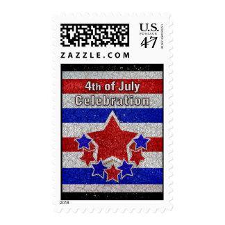 4to del franqueo de la celebración de julio timbres postales