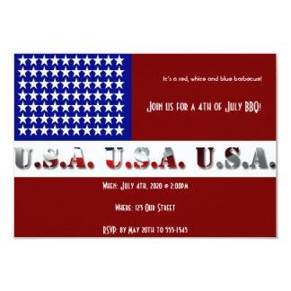 4to del gráfico moderno de la bandera de julio los invitacion personal