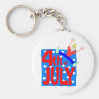 4to del individuo del fiesta de julio llavero redondo tipo pin