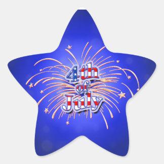 4to del pegatina de la estrella de los fuegos