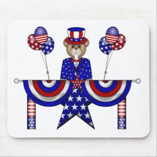 4to del presidente del peluche de julio tapete de ratón