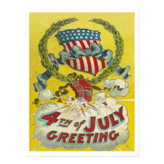 4to del saludo de julio postal