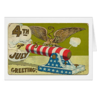 4to del saludo de julio tarjeta pequeña