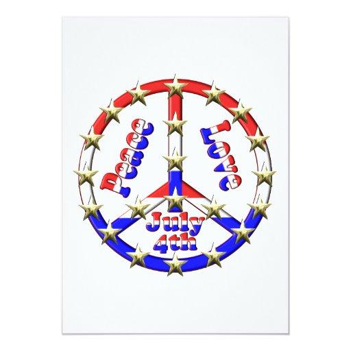 4to del signo de la paz de julio invitación personalizada