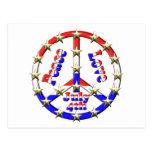 4to del signo de la paz de julio postal