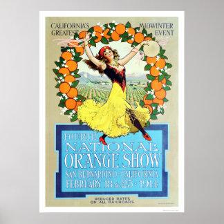 4to Demostración anaranjada nacional 1914 Póster