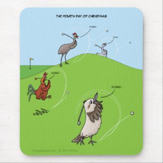 4to Día de navidad (cuatro pájaros) Mousepad