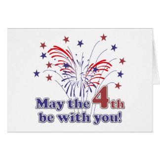4to divertido del regalo de julio tarjeta de felicitación