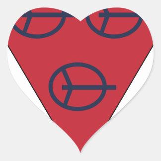 4to División antiaérea Pegatina En Forma De Corazón