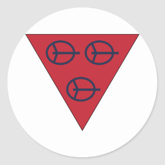 4to División antiaérea Pegatina Redonda