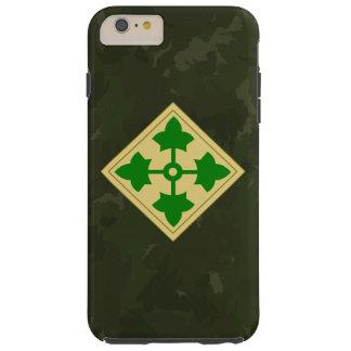 """4to División de infantería """"división"""" Camo oscuro Funda De iPhone 6 Plus Tough"""