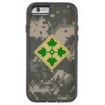 """4to División de infantería """"división"""" Digital Camo Funda Tough Xtreme iPhone 6"""