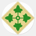 4to División de infantería Pegatina Redonda