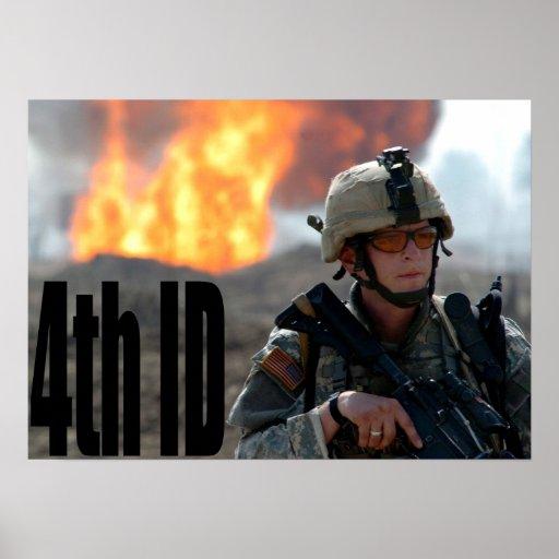 4to División de infantería Poster