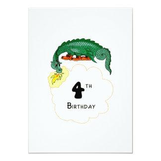 4to Dragón del cumpleaños Invitaciones Personalizada