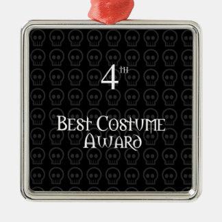 4to El lugar B&W Morph el mejor premio del traje Adorno Navideño Cuadrado De Metal