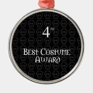 4to El lugar B&W Morph el mejor premio del traje Adorno Navideño Redondo De Metal