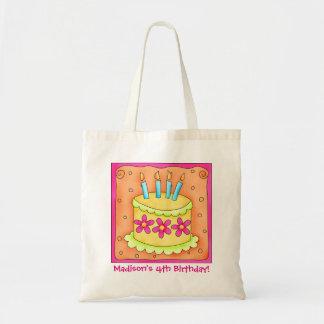4to El nombre de la torta del feliz cumpleaños Bolsa Tela Barata