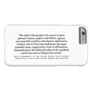 4to Enmienda de la constitución de Estados Unidos Funda De iPhone 6 Barely There