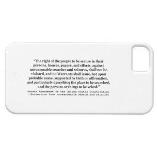 4to Enmienda de la constitución de Estados Unidos iPhone 5 Carcasas