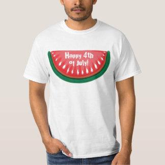 4to feliz de la camiseta del valor de la sandía de poleras