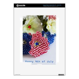 4to feliz de la celebración de julio pegatina skin para iPad 3